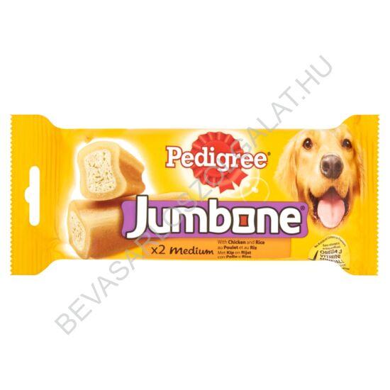 Pedigree Jumbone Medium Kiegészítő Állateledel Csirkével és Rizzsel Felnőtt Kutyáknak 2 db 200 g