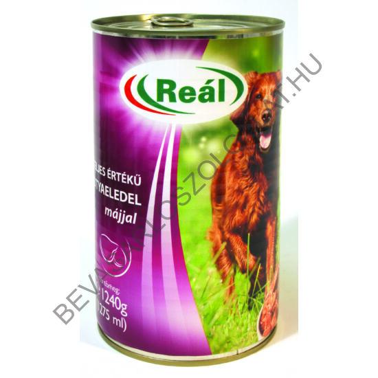 Reál Teljes Értékű Kutyaeledel Májjal konzerv 1240 g (#12)