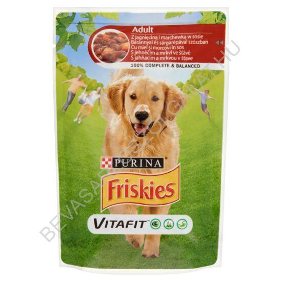Friskies Vitafit Adult Alutasakos Kutyaeledel Báránnyal és Sárgarépával Szószban 100 g (#20)