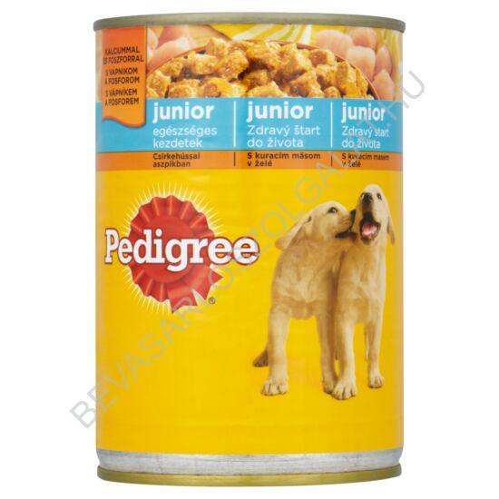 Pedigree Junior Kutyaeledel Konzerv Csirkehússal Aszpikban 400 g