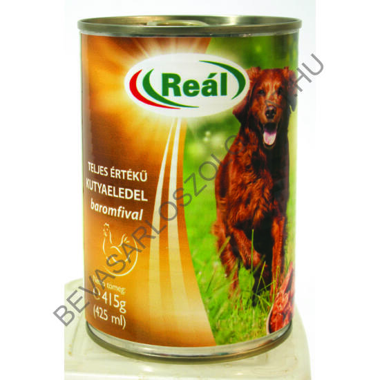 Reál Teljes Értékű Kutyaeledel Baromfihússal konzerv 415 g (#24)