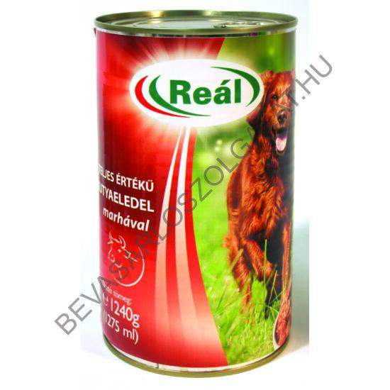 Reál Teljes Értékű Kutyaeledel Marhahússal konzerv 1240 g (#12)