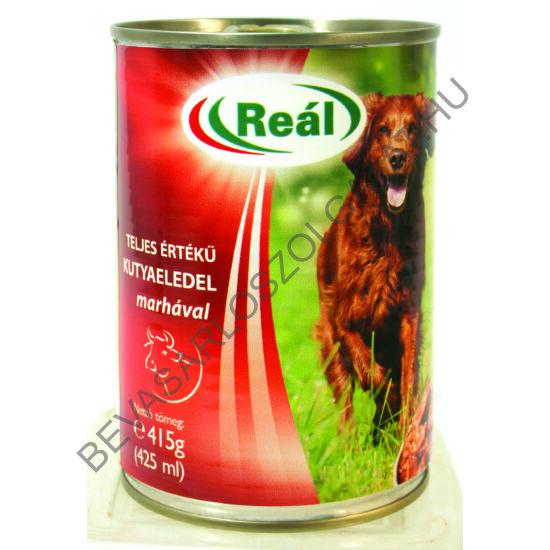 Reál Teljes Értékű Kutyaeledel Konzerv Marhával 415 g (#24)