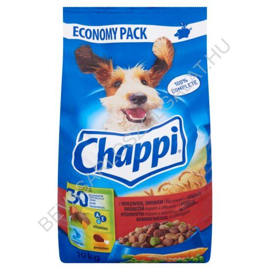 Chappi Száraz Kutyaeledel Marhahússal, Baromfihússal és Zöldségekkel 10 kg