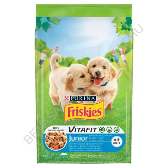 Friskies Junior Száraz Kutyaeledel Csirkehússal és Zöldségekkel 500 g