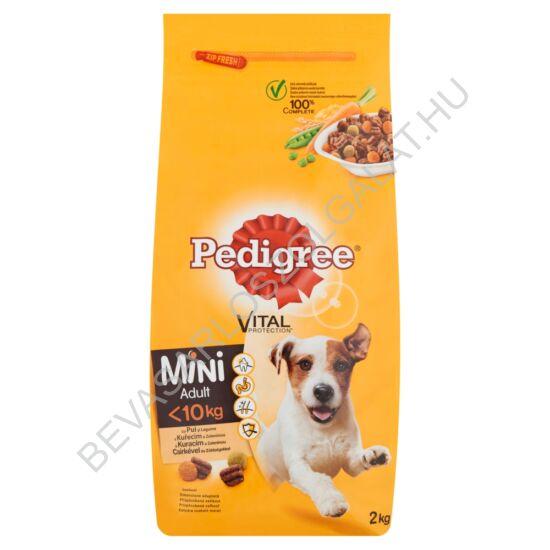 Pedigree Mini Száraz Kutyaeledel Csirkével és Zöldségekkel 2 kg