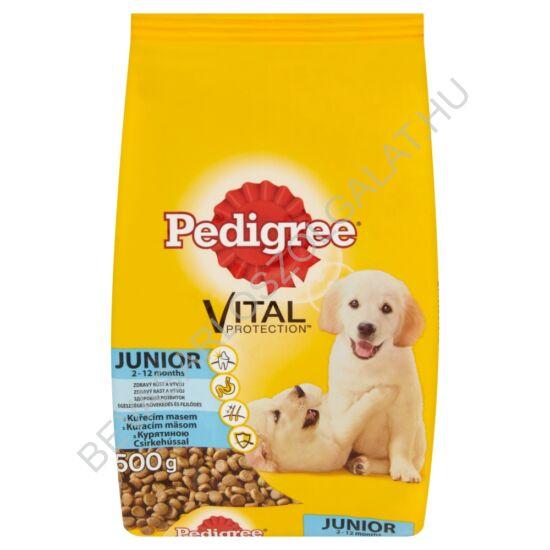 Pedigree Junior Száraz Kutyaeledel Csirkehússal és Rizzsel 500 g