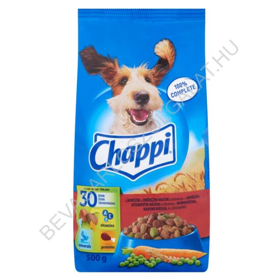 Chappi Száraz Kutyaeledel Marhahússal, Baromfihússal és Zöldségekkel 500 g