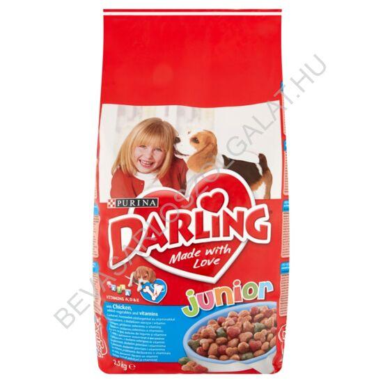 Darling Junior Száraz Kutyaeledel Csirkével és Zöldséggel 2,5 kg