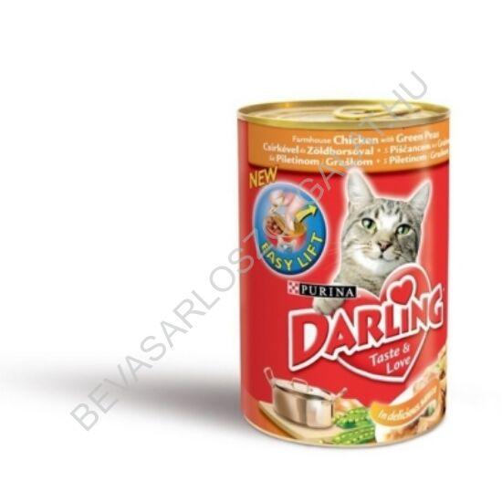 Darling Macskaeledel Konzerv Csirkével és Zöldborsóval 400 g