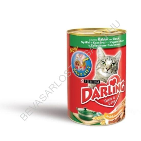 Darling Macskaeledel Konzerv Nyúllal és Kacsával 400 g