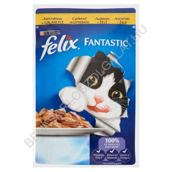 Felix Fantastic Alutasakos Macskaeledel Csikrével Aszpikban 100 g (#20)