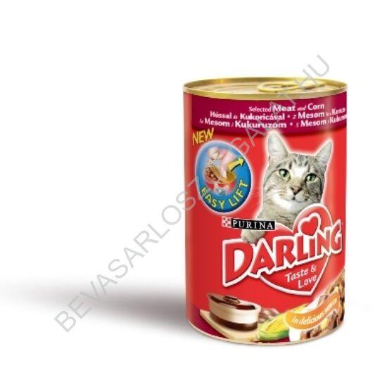 Darling Macskaeledel Konzerv Hússal és Kukoricával 400 g
