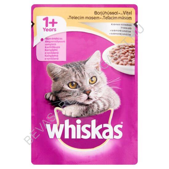 Whiskas Alutasakos Macskaeledel Borjúhússal Krémes Szószban 100 g