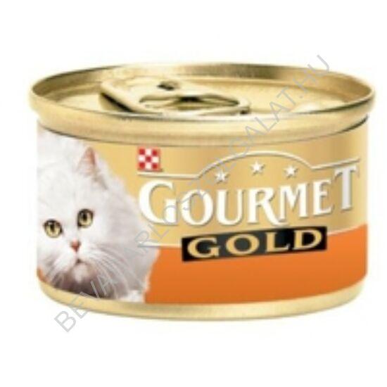 Gourmet Gold Macskaeledel Konzerv Pástétom Pulykával 85 g