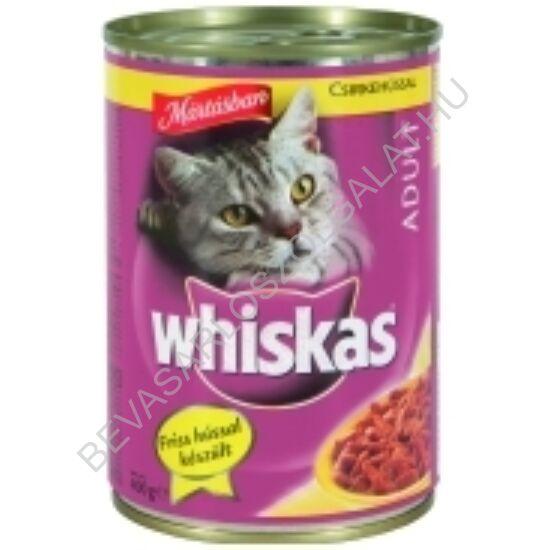 Whiskas Macskaeledel Konzerv Mártásban Csirkehússal 400 g