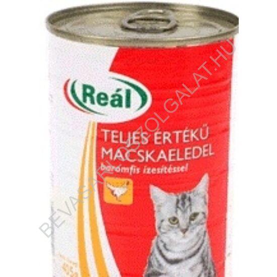 Reál Teljes Értékű Macskaeledel Baromfihússal konzerv 415 g (#24)
