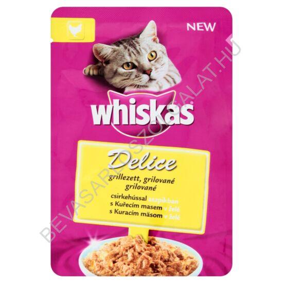 Whiskas Delice Alutasakos Macskaeledel Grillezett Csirkehússal Aszpikban 85 g