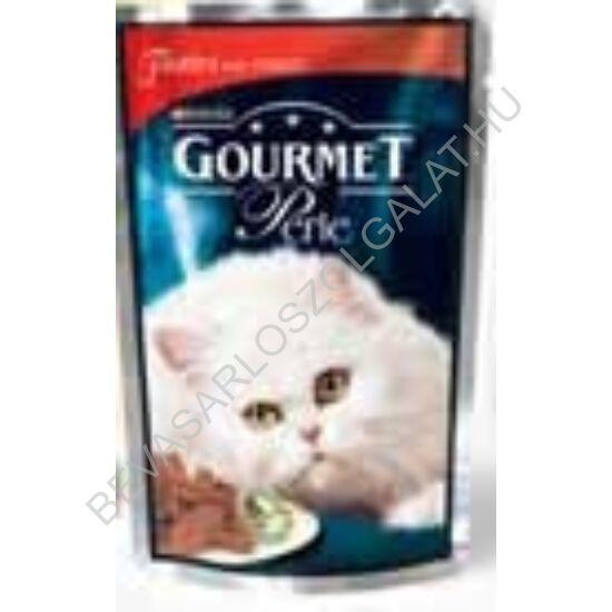 Gourmet Perle Alutasakos Macskaeledel Marhahús Falatok Szószban 85 g
