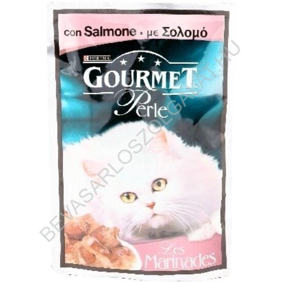 Gourmet Perle Alutasakos Macskaeledel Falatok Szószban Lazaccal 85 g