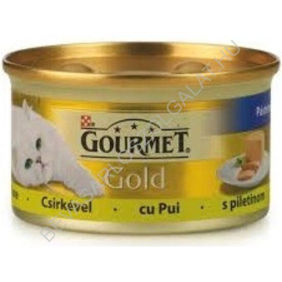 Gourmet Gold Macskaeledel Konzerv Pástétom Csirkehússal 85 g