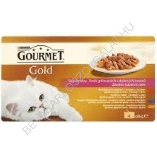 Gourmet Gold Macskaeledel Konzerv Duo Élmény 4 Féle Íz multipack 4x85 g