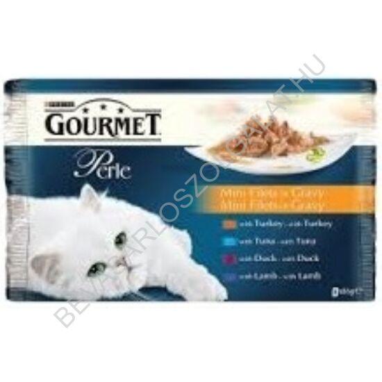 Gourmet Perle Alutasakos Macskaeledel Falatok Szószban 4 Féle Íz 4x85 g