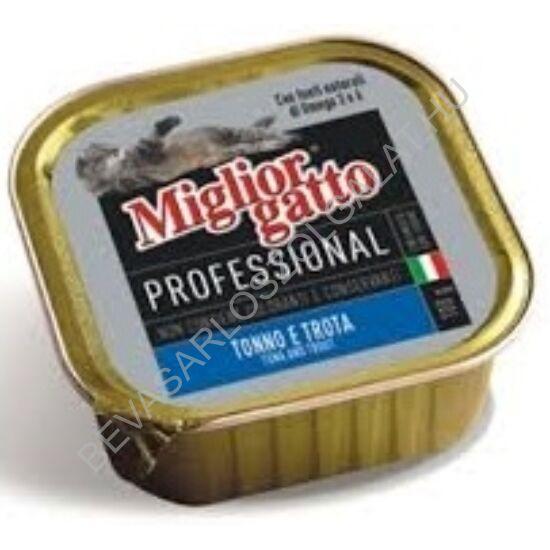 Miglior Gatto Professional Macskaeledel Alutálkás Tonhallal - Pisztránggal konzerv 100 g