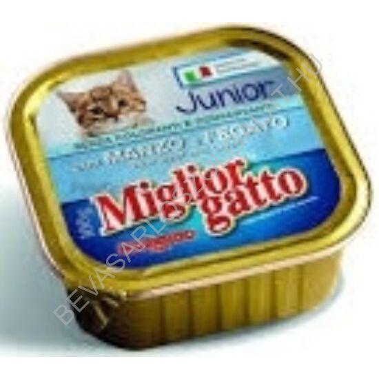 Miglior Gatto Junior Macskaeledel Alutálkás Marhahússal - Májjal konzerv 100 g