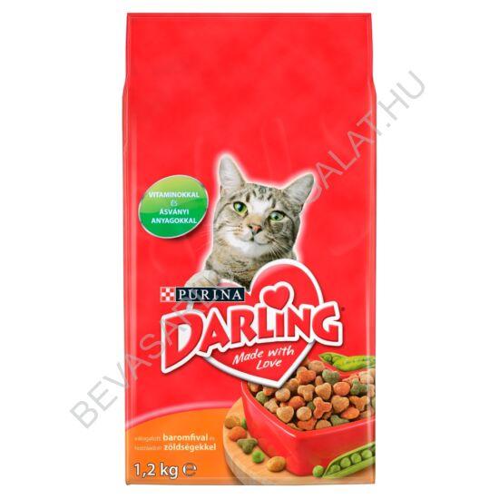 Darling Száraz Macskaeledel Baromfival 2 kg
