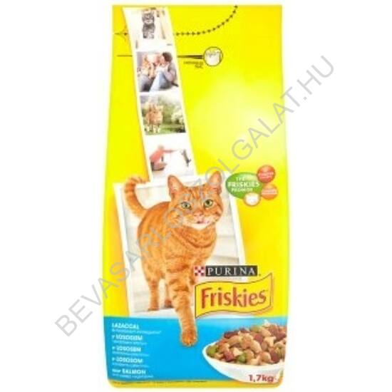 Friskies Adult Száraz Macskaeledel Lazac + Zöldség 1,7 kg