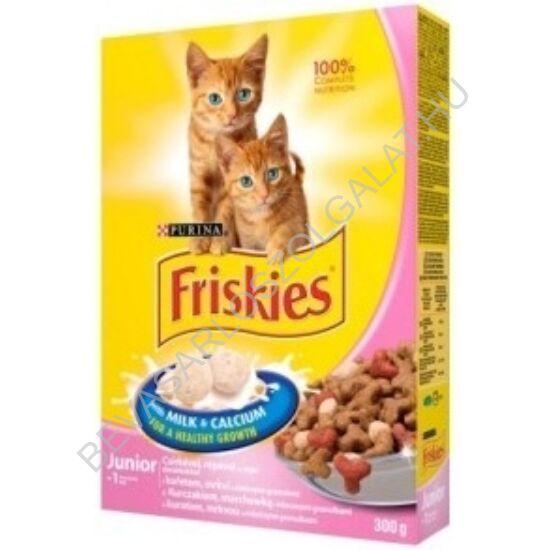 Friskies Junior Száraz Macskaeledel Csirke + Tej + Zöldség 300 g