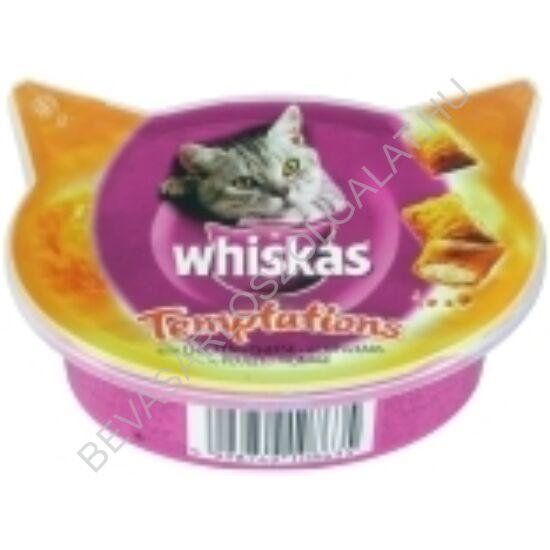 Whiskas Jutalomfalat Macskáknak Temptations Csirkével és Sajttal 60 g