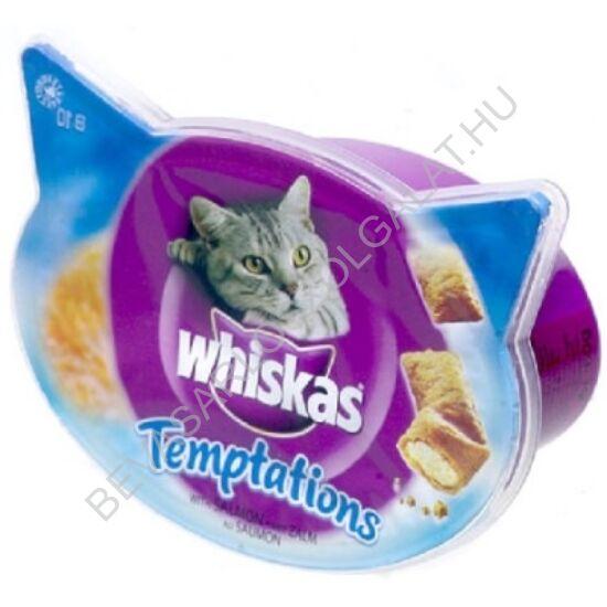 Whiskas Jutalomfalat Macskáknak Temptations Lazaccal 60 g