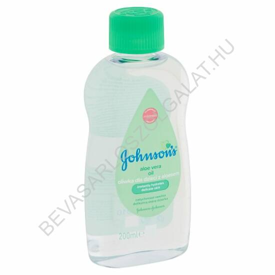 Johnson's Baby Oil Babaolaj Aloe Vera Kivonattal 200 ml