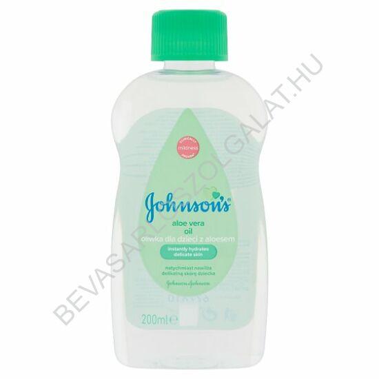 Johnson's Baby Oil Babaolaj Aloe Vera Kivonattal 200 ml