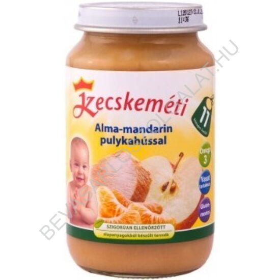 Kecskeméti Bébiétel Alma - Mandarin Pulykahússal - 11 hónapos kortól 220 g