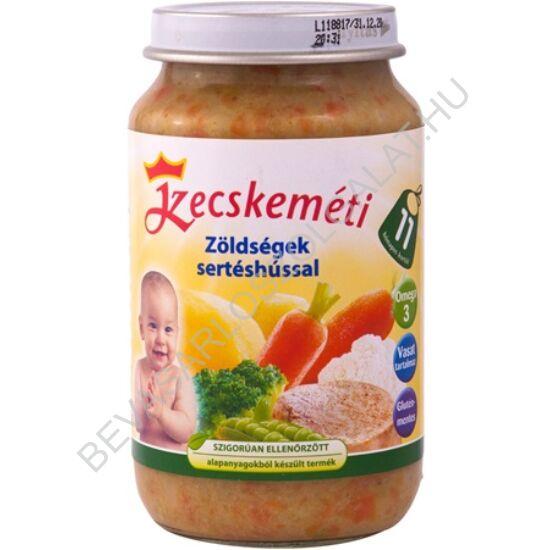 Kecskeméti Bébiétel Zöldségek Sertéshússal - 11 hónapos kortól 220 g