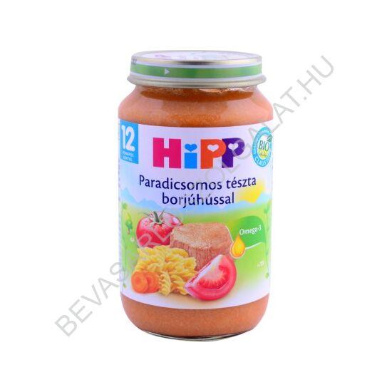Hipp BIO Bébiétel Paradicsomos Tészta Borjúhússal - 1 éves kortól 220 g
