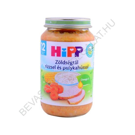 Hipp BIO Bébiétel Zöldségtál Pulykahússal - 1 éves kortól 220 g