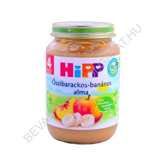 Hipp Bébiétel Őszibarack - Banán - Alma - 4 hónapos kortól 190 g