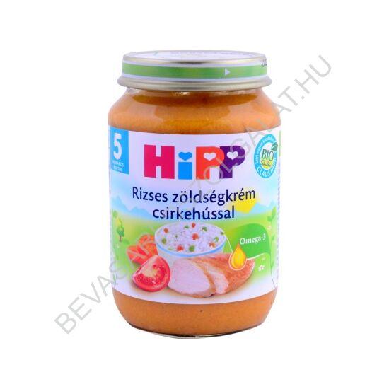 Hipp BIO Bébiétel Rizses Zöldségkrém Csirkehússal - 5 hónapos kortól 190 g