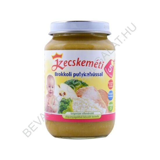 Kecskeméti Bébiétel Brokkoli Pulykahússal - 5 hónapos kortól 190 g