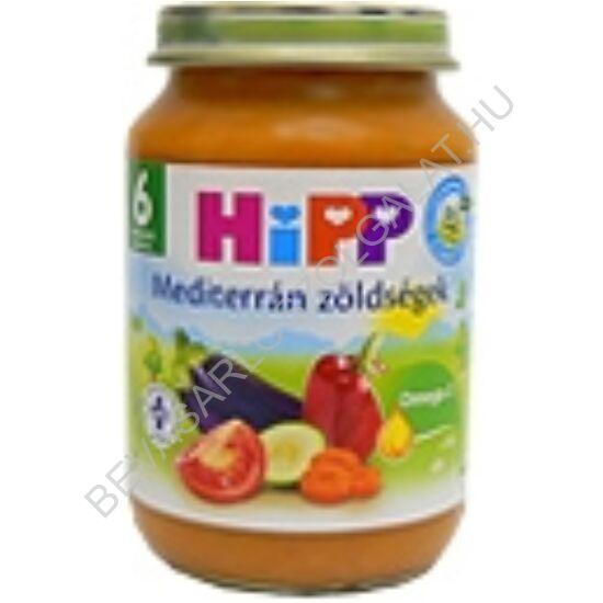 Hipp BIO Bébiétel Mediterrán Zöldségek - 6 hónapos kortól 190 g