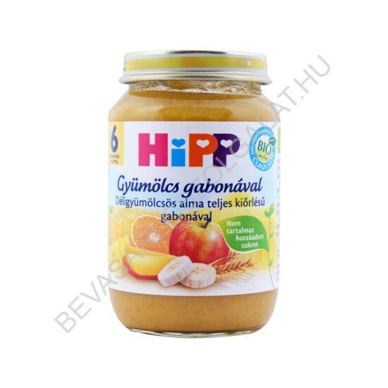 Hipp Gyümölcs Gabonával BIO Bébiétel Déligyümölcsös Alma Teljes Kiőrlésű Gabonával - 6 hótól 190 g
