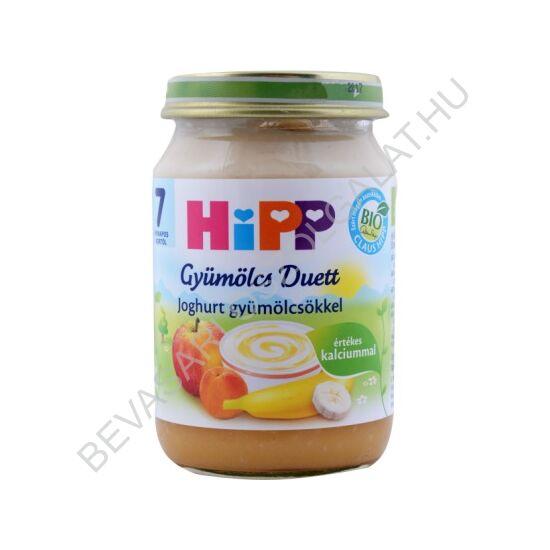 Hipp Bio Bébidesszert Gyümölcs Duett Joghurt Gyümölcsökkel - 7 hónapos kortól 160 g