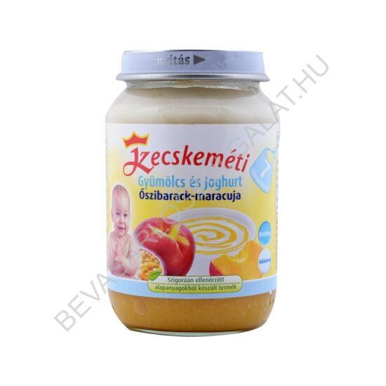 Kecskeméti Bébiétel Gyümölcs & Joghurt Őszibarack Maracuja - 7 hónapos kortól 190 g