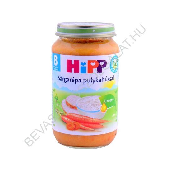Hipp BIO Bébiétel Sárgarépa Pulykahússal - 8 hónapos kortól 220 g