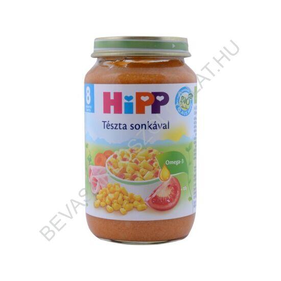 Hipp BIO Bébiétel Tészta Sonkával - 8 hónapos kortól 220 g