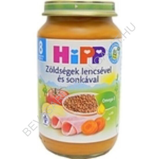 Hipp BIO Bébiétel Zöldségek Lencsével és Sonkával - 8 hónapos kortól 220 g